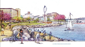 Potomac River Green Illustration From coal plant to green community for $450 million