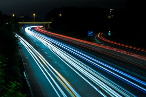 Highway at Night Smart cities aim to predict    and manage    traffic future