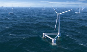 PrinciplePower WindFloat Seascape Floating, deep water wind farms inch closer to reality